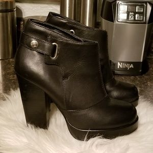 Harley Davidson black heeled booties 6